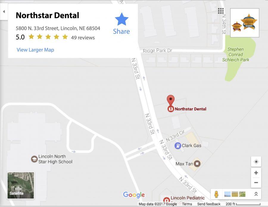 dental-northstar-lincoln-ne-map - Northstar Dental