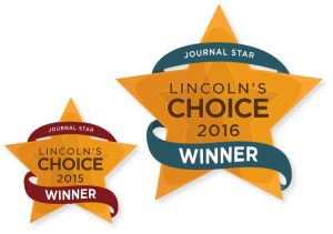 Image of the Lincoln's Choice award logos.