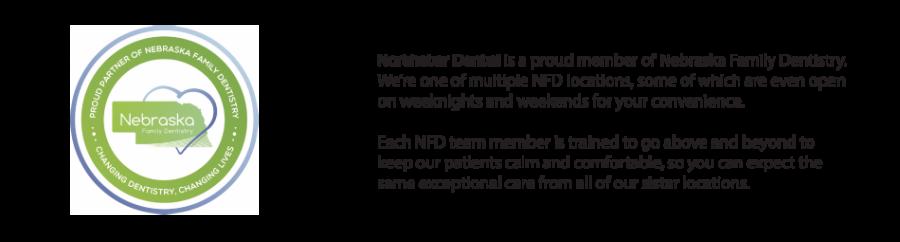 Image of the NFD logo. Northstar Dental is a proud member of Nebraska Family Dentistry.