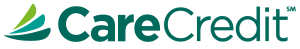 Image of the CareCredit logo. CareCredit can help make dental services such getting dentures, easy.