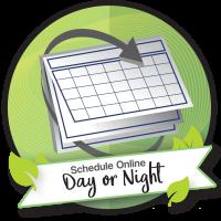 schedule online day or night